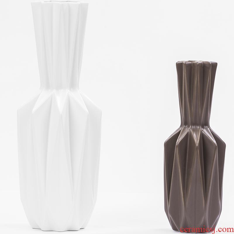 The S8 Nordic home TV ark, creative ceramic vase furnishing articles, The sitting room porch simulation flower flower flower vase pendulum
