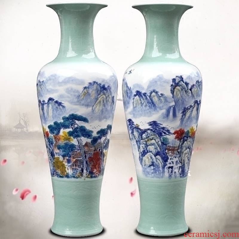 Jingdezhen ceramic hand picked home sitting room hotel modern flower arrangement of large vase act the role ofing is tasted furnishing articles