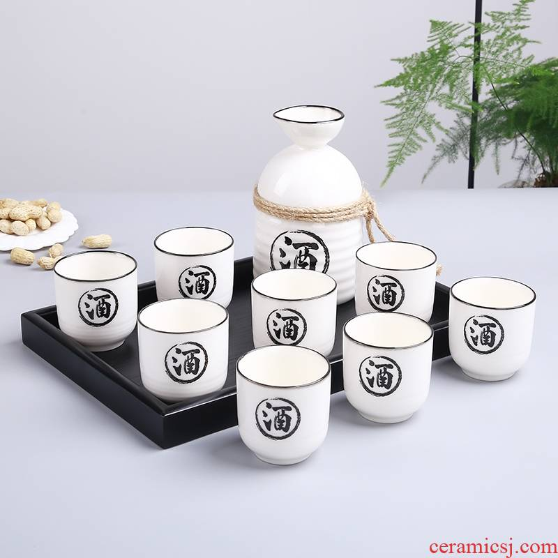 Qiao mu Japanese wine suits for ceramic wine and white wine wine 1 catty flask glass restaurant home half a catty