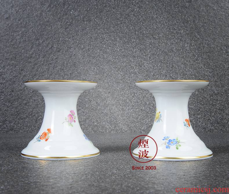 German mason mason meisen new clipping colorful flower porcelain based power dinner candles candlestick deck
