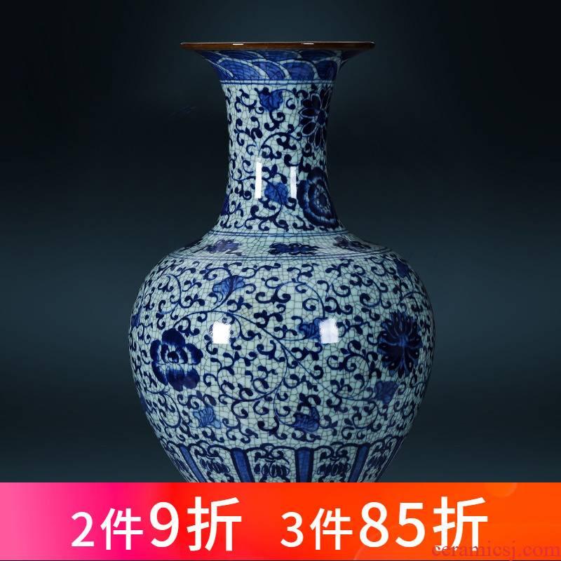 Archaize of jingdezhen porcelain ceramic hand - made porcelain up vase large furnishing articles home sitting room adornment restoring ancient ways