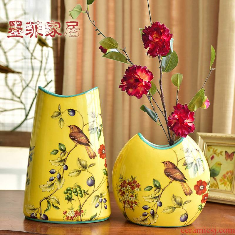 Hand - made ceramic furnishing articles of the new Chinese style household act the role ofing is tasted American TV ark, sitting room porch ark decoration decorative vase
