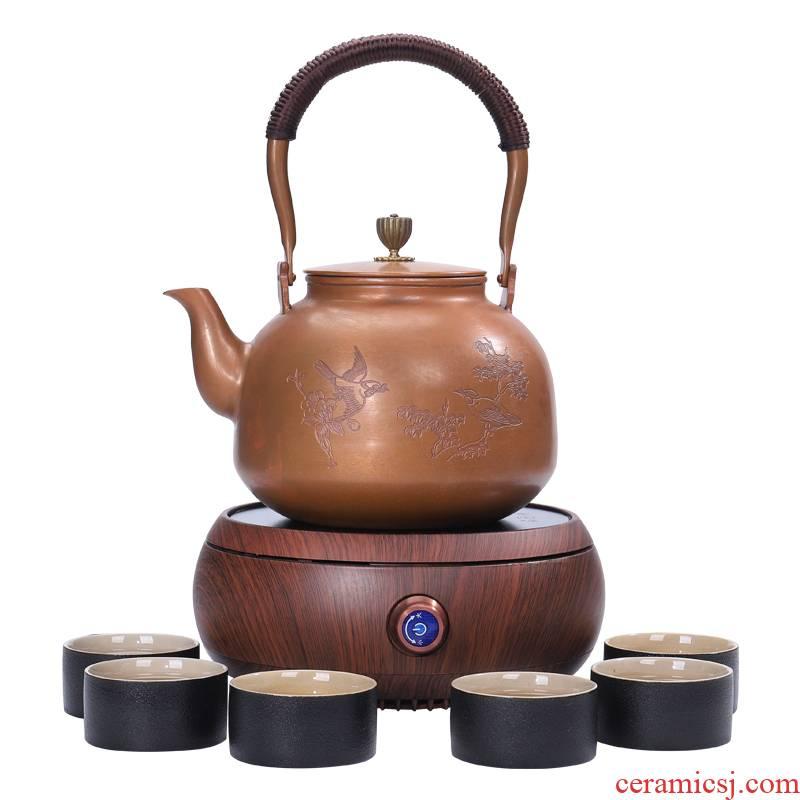 Shadow enjoy what boiling kettle electric heating kettle black tea tea is tea stove cooking household electrical TaoLu boiled tea set