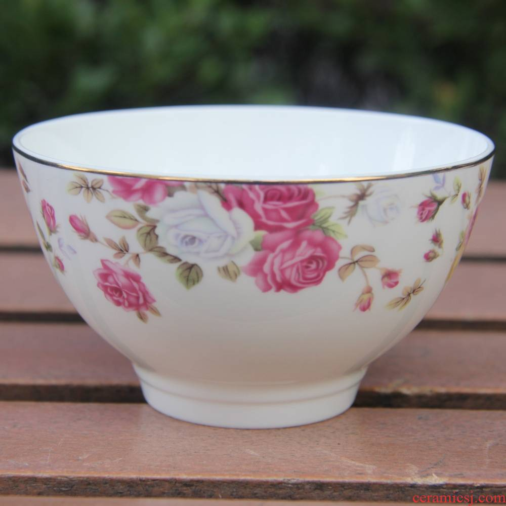 Qiao mu tangshan ipads porcelain flowers for 4.5 inch tall bowl of rice bowl bowl dip the British bowl bowl bowl of up phnom penh