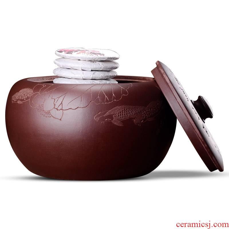 Shadow at yixing purple sand tea pot to heavy large bucket of violet arenaceous crock tea tea cylinder ceramic POTS