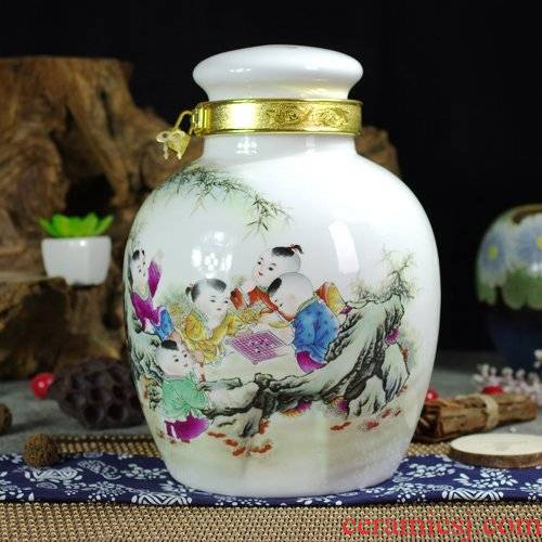 10 jins 20 jins 30 jins of jingdezhen ceramic jar sealing it jars altar decorated wine fermentation