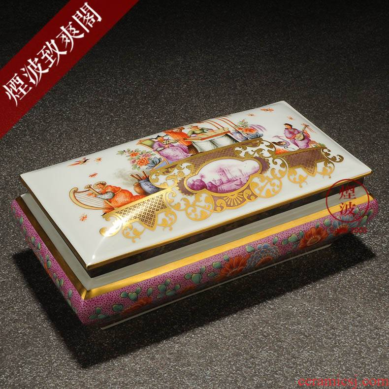 Those German mason MEISSEN meisen porcelain works limited Chinese wind music box sound box