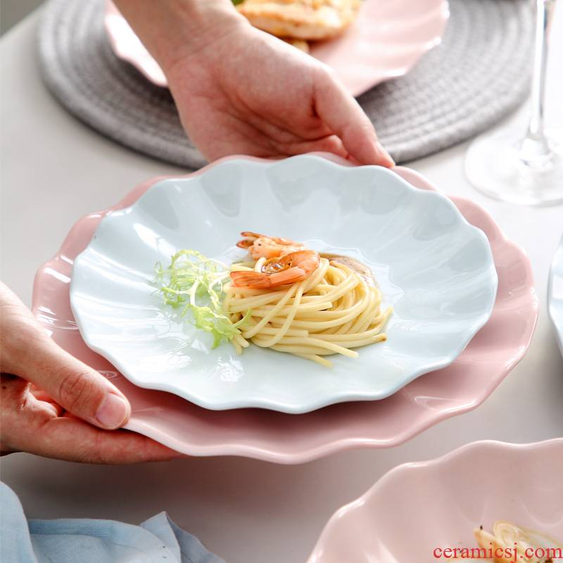 0 jingdezhen ceramic creative the household contracted dumpling dish soup plate salad dish northern Japanese individual plates
