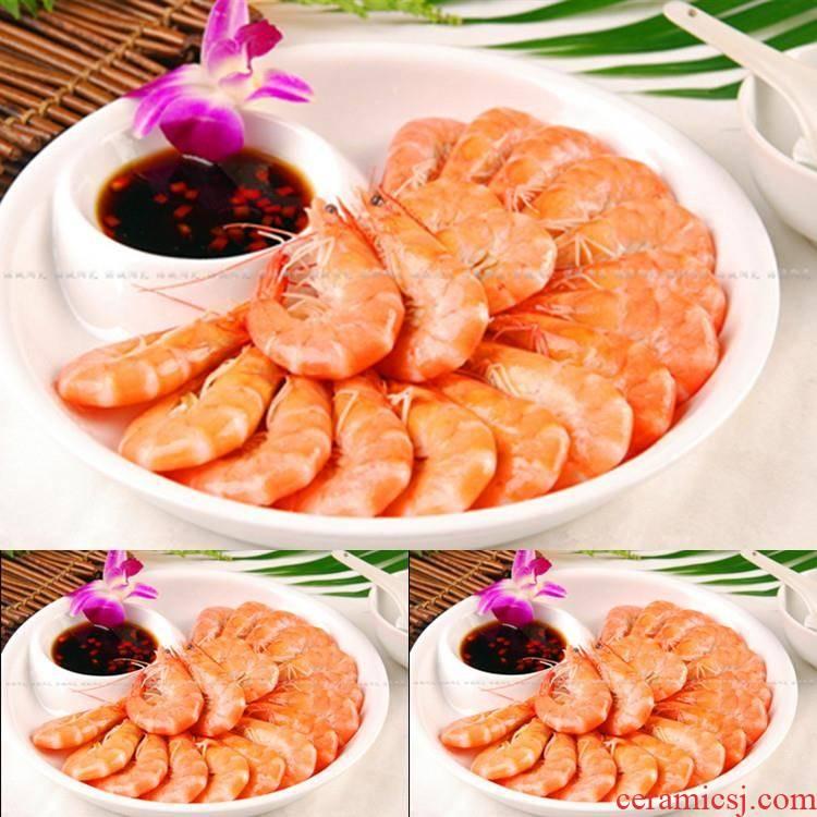 Water dumplings dribbling vinegar dish rounded rectangle home hotel creative ceramic rapeseed sushi plates with shrimp dish