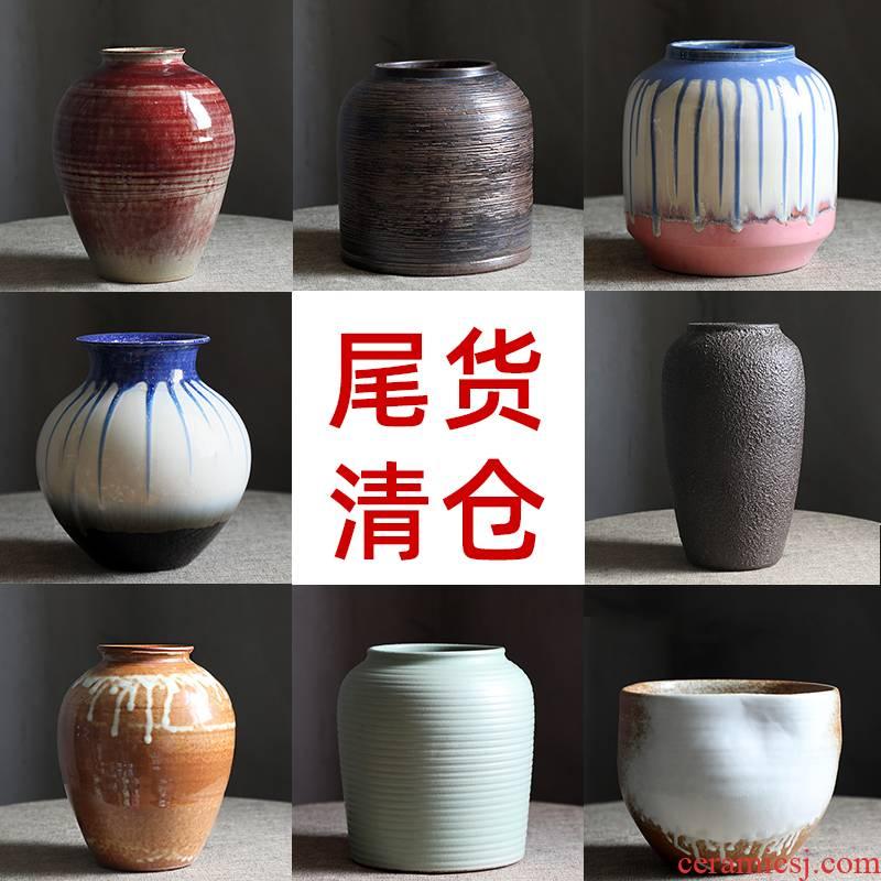 Clearance rule tail cargo handling of jingdezhen ceramic dry flower water raise floret bottle retro flower arrangement sitting room place flowerpot