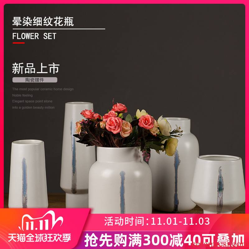 Furnishing articles hand made special ceramic tea table storage tank study TV ark adornment Furnishing articles contracted sitting room decoration