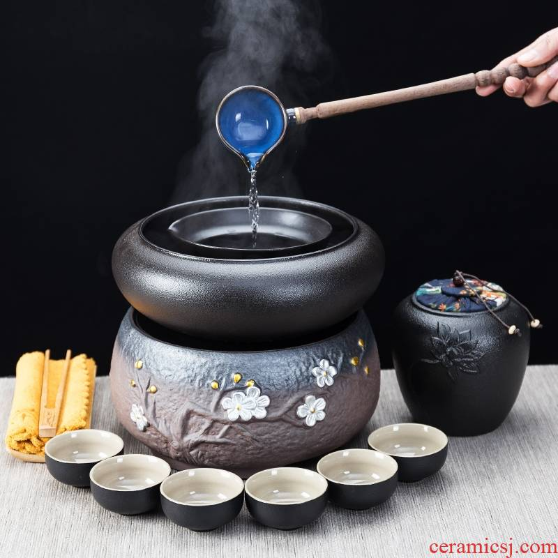 Qiao mu tea boiled tea exchanger with the ceramics points to use black tea pu - erh tea dry mercifully bowl of Japanese electric power TaoLu kung fu tea stove