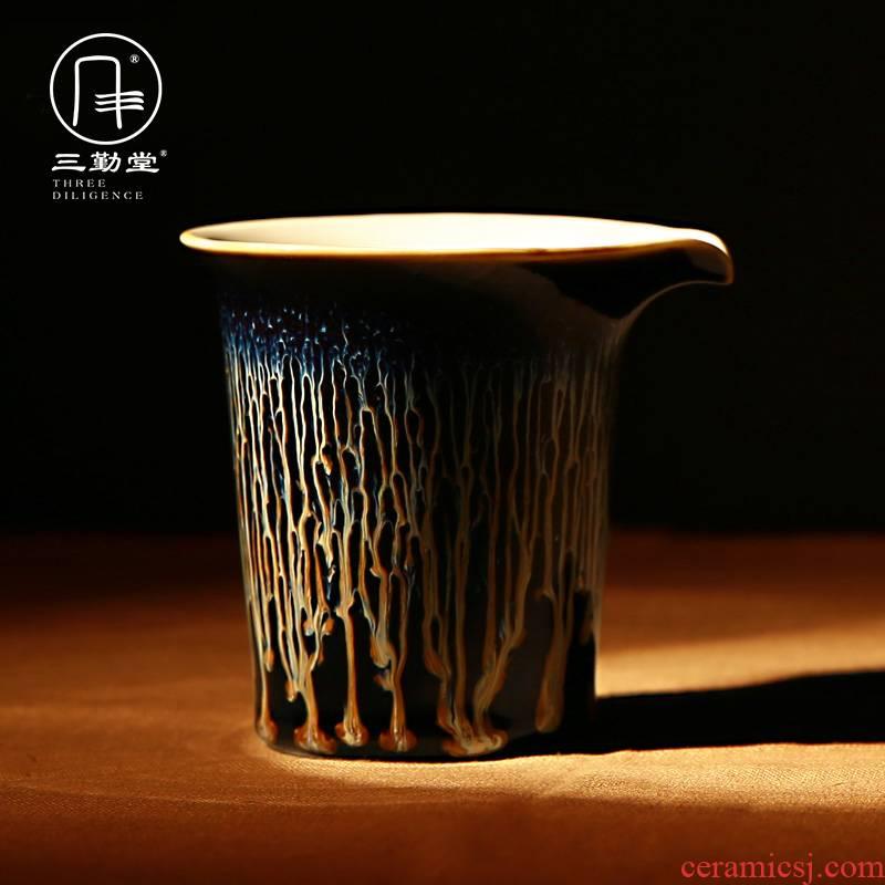 Three frequently hall up with jingdezhen ceramic tea set to build fair keller light points of tea, tea tea accessories S31017 sea