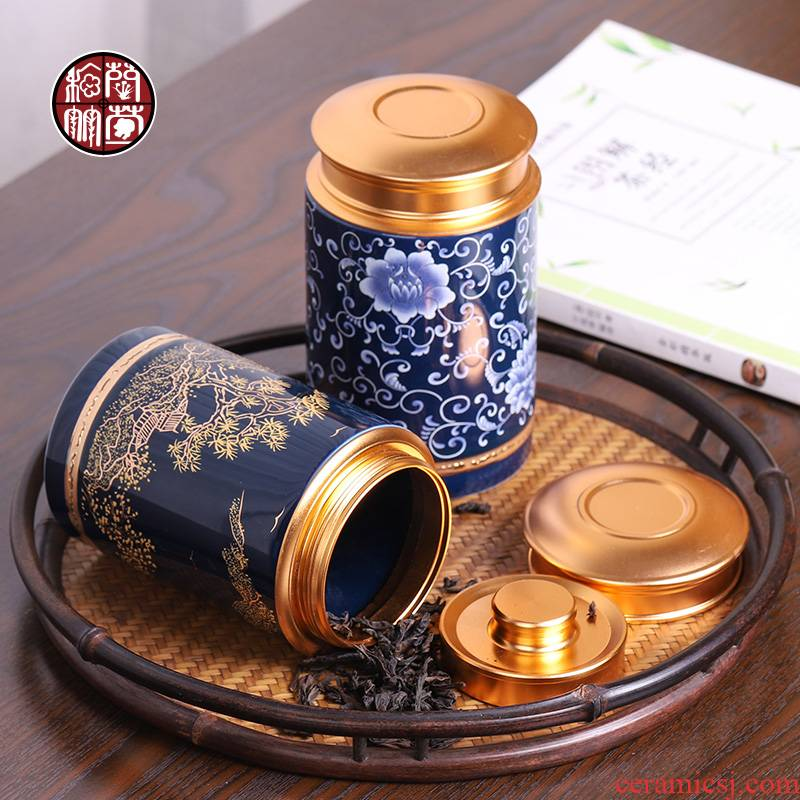 The Mini caddy fixings travel small POTS with portable moistureproof loose tea as cans ceramic storage tank general restoring ancient ways