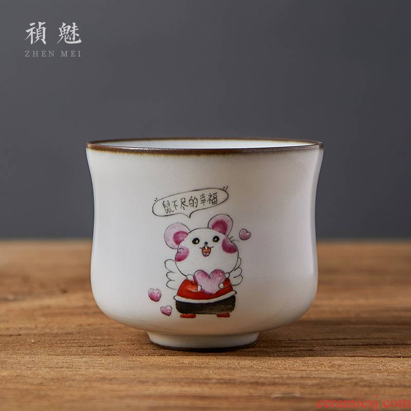Shot incarnate all hand your up with jingdezhen ceramic cups kung fu tea set open sample tea cup individual single cup masters cup