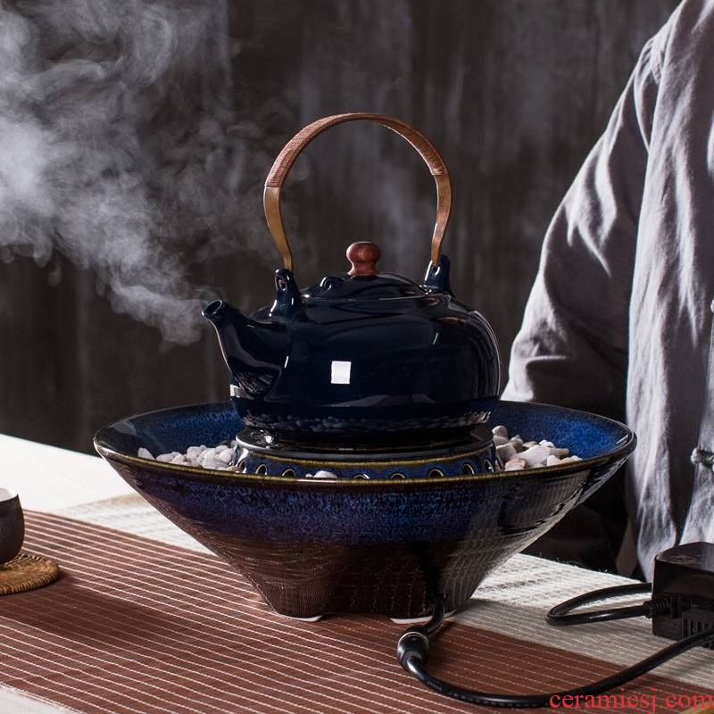 Qiao longed for curing pot of black tea kettle boil tea exchanger with the ceramics electric tea kettle insulation induction cooker kung fu tea set