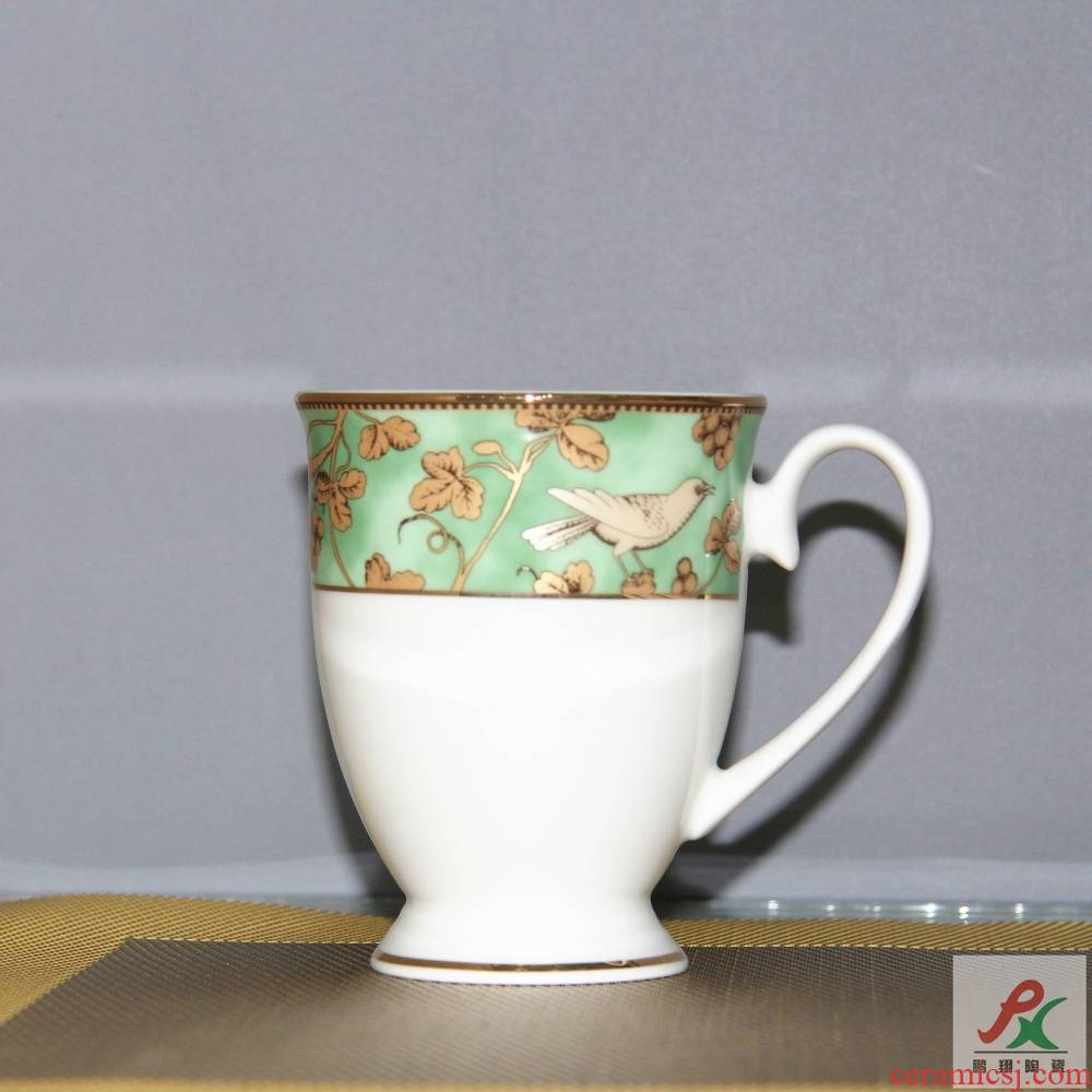 Qiao mu tangshan ipads China green language of England mark cup coffee cup cup glass cups milk cup of English breakfast cup