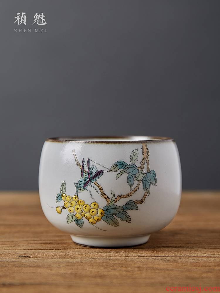 Shot incarnate your up hand - made loquat start master of jingdezhen ceramic kung fu tea set sample tea cup individual single CPU