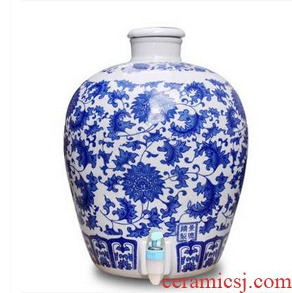 50 kg 20 jins 30 jins with jingdezhen ceramic jar expressions using mercifully it altar wine bottle wine bottle with tap