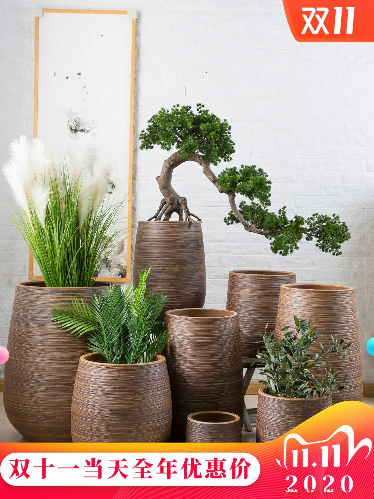 I and contracted flowerpot jingdezhen ceramic floor balcony desktop sitting room other tiger orchid hotel courtyard furnishing articles