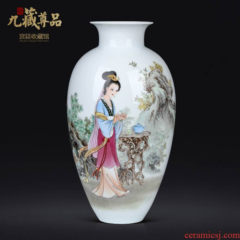 Jingdezhen ceramics dong - Ming li hand - made had Chinese style living room TV ark, flower arranging decoration as furnishing articles