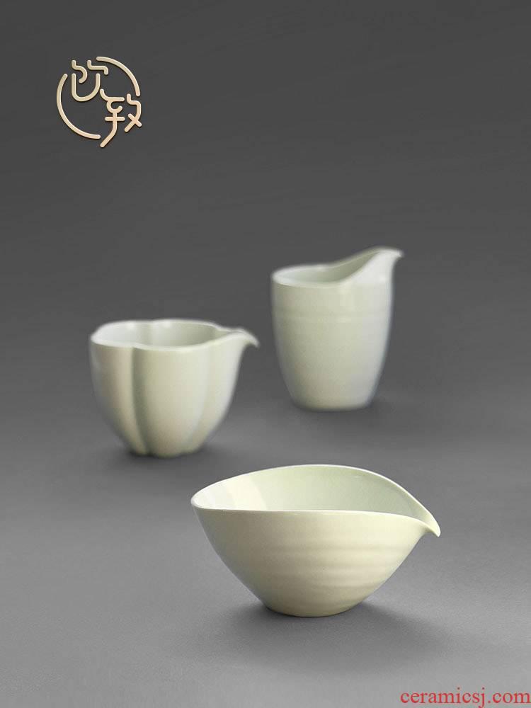 Ultimately responds to the secret glaze jingdezhen Japanese points fair keller of tea ware ceramic checking retro kunfu tea sea a single CPU