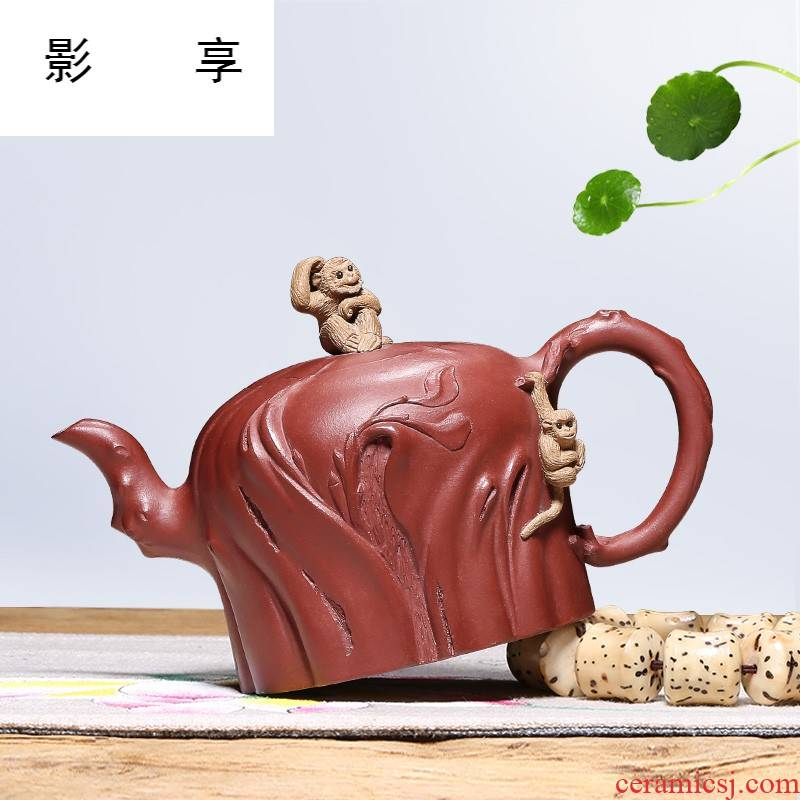 Shadow at yixing are it by pure manual undressed ore for the spring home of kung fu teapot tea kettle HM