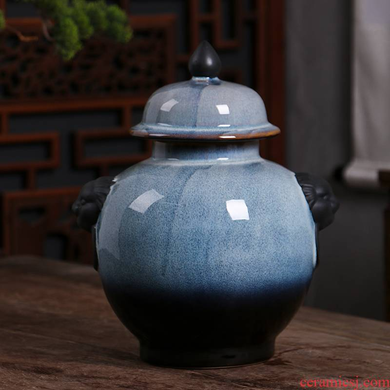 Jingdezhen ceramic jars jugs 5 jins of an empty bottle with Chinese style hip household sealed empty bottles of liquor bottles gift box
