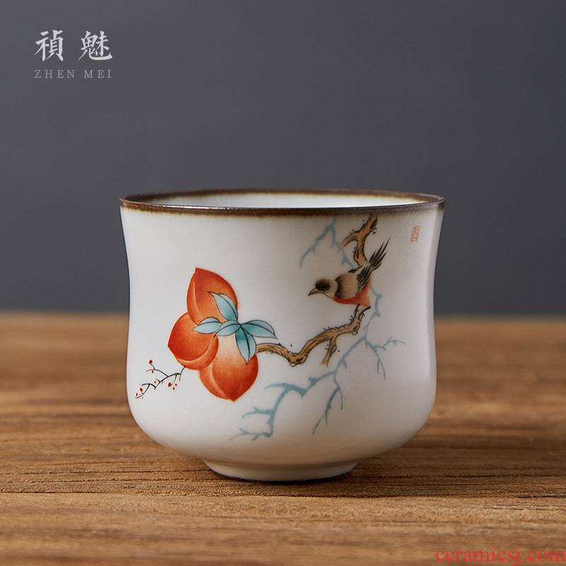 Shot incarnate the jingdezhen ceramic your up hand - made teacup kung fu tea set open sample tea cup individual single cup masters cup