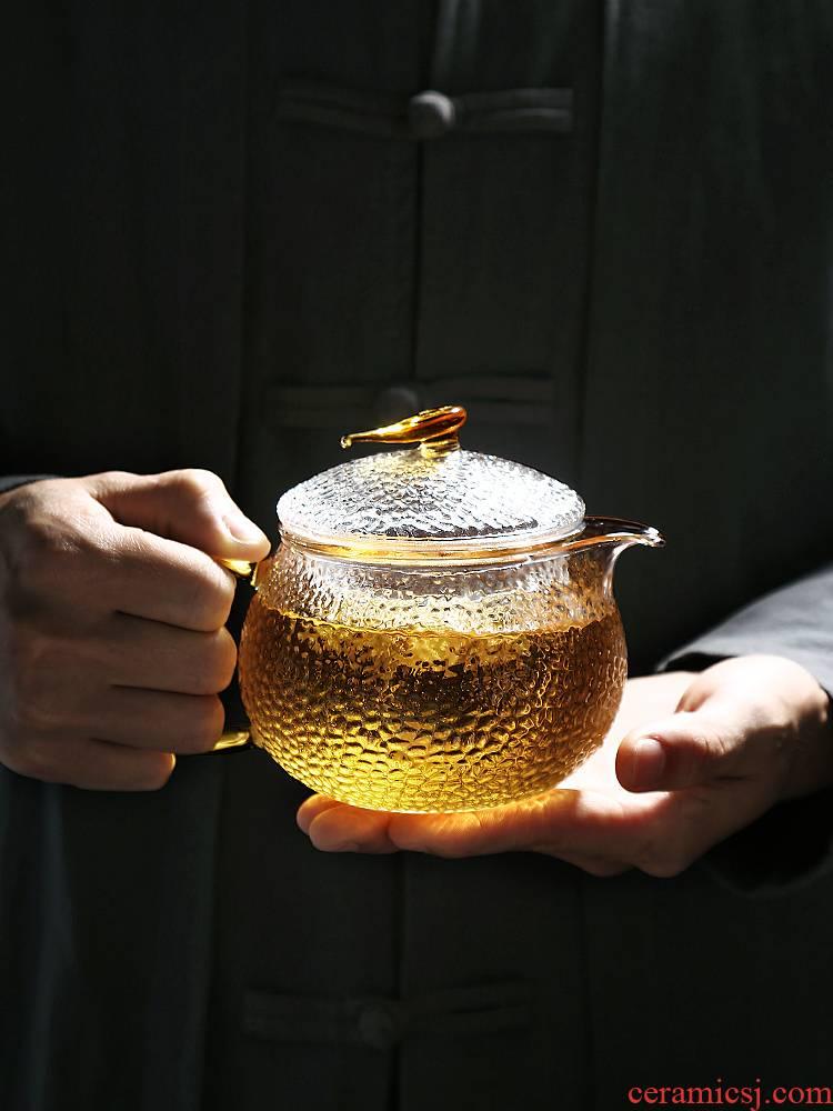 One small hammer glass teapot electricity TaoLu boiled tea tea bags are transparent single separation of tea kettle