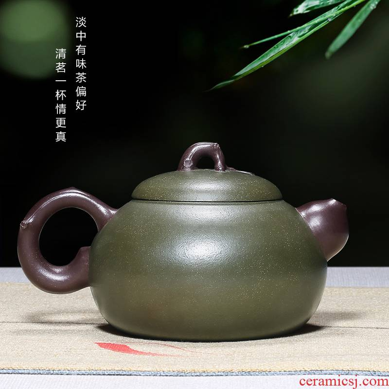 Shadow at yixing famous pure manual undressed ore chlorite are it in ferro, and kung fu teapot household teapot