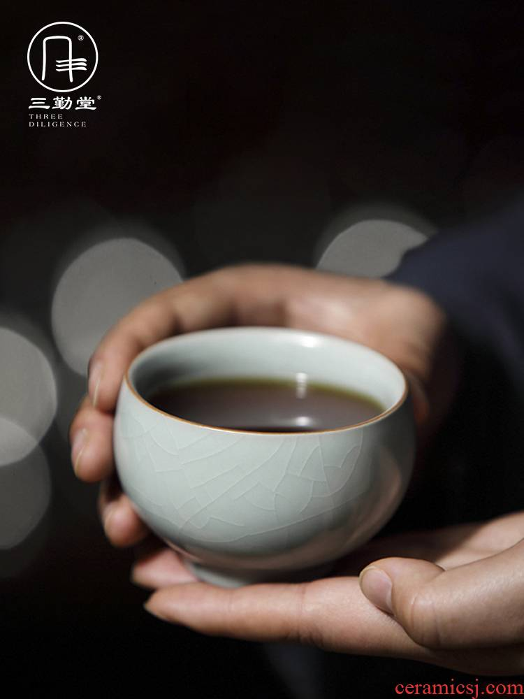Three frequently hall jingdezhen ceramic cups your up kung fu tea masters cup sample tea cup S44016 personal single CPU