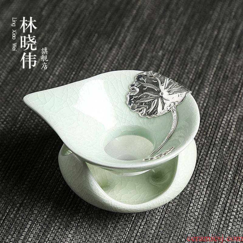 Lin Xiaowei your up ceramic inlaid with silver restoring ancient ways) tea leaves filter tea accessories filter filter ideas