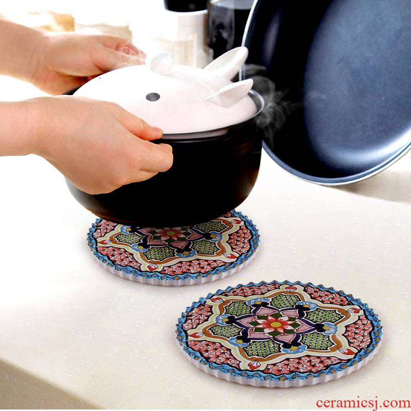 Creative ceramic pot pad appearance level beauty apparatus table mat necessities Turkish customs against the hot heat preservation and heat insulation mat mat