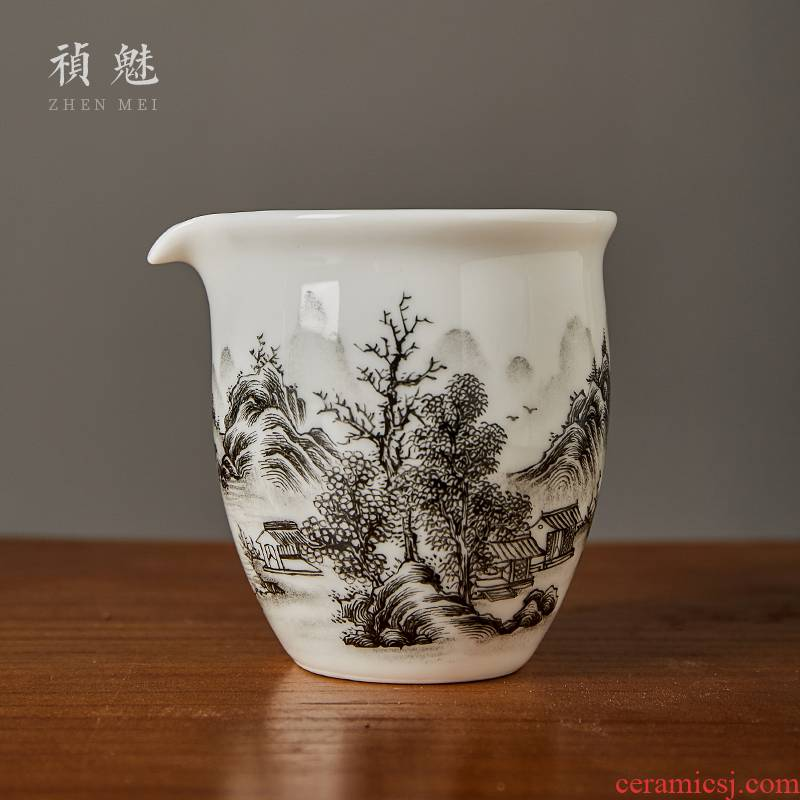 Landscape of jingdezhen ceramics fair keller shot incarnate the hand - made ink in the kung fu tea accessories large tea sea points
