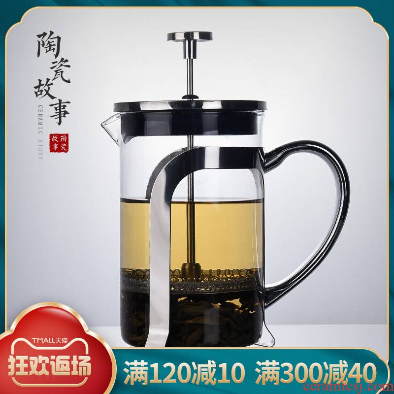 Ceramic story elegant cups glass teapot tea device heat method of separation of impact pressure pot of tea tea, tea cup