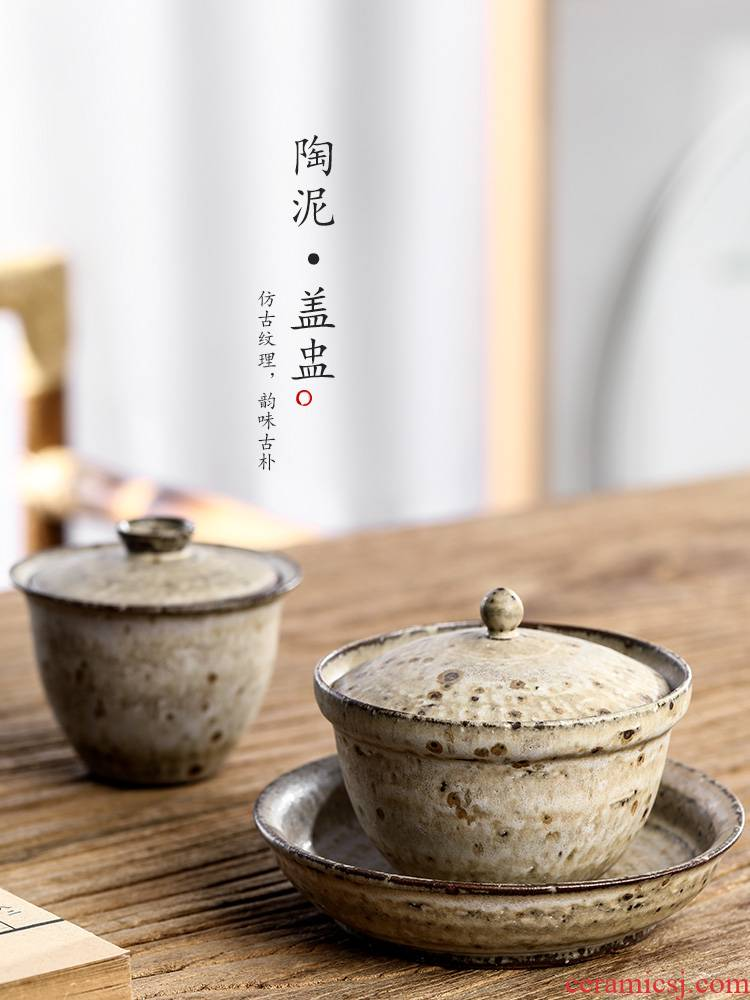 Jingdezhen pure manual three tureen tea cups only protect hot large clay teapots kung fu tea set a single tea