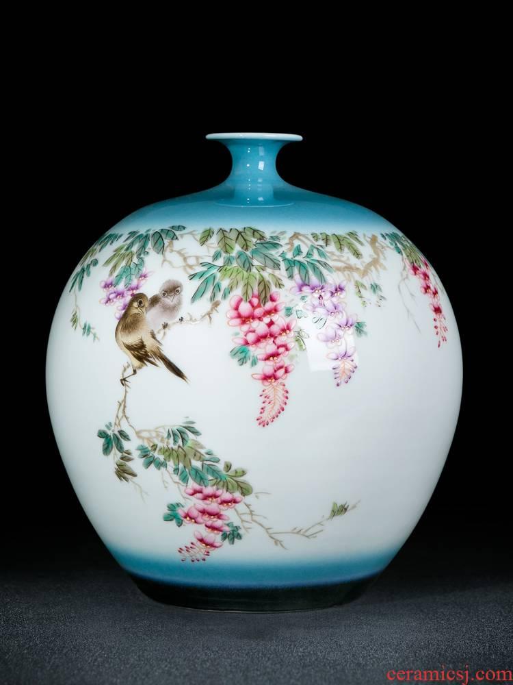 Ceramic vase furnishing articles jingdezhen porcelain flower arranging new Chinese style decorates sitting room ark, large household vase