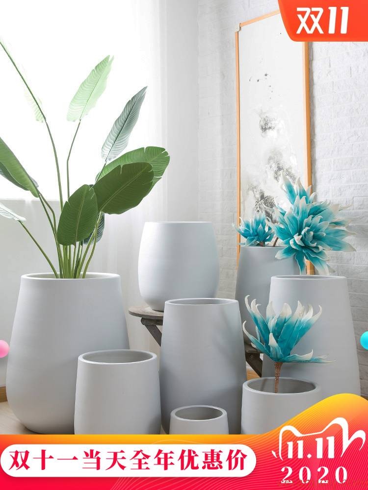 The Nordic idea of jingdezhen flowerpot large basin of I and contracted land sitting room interior courtyard green plant adornment furnishing articles