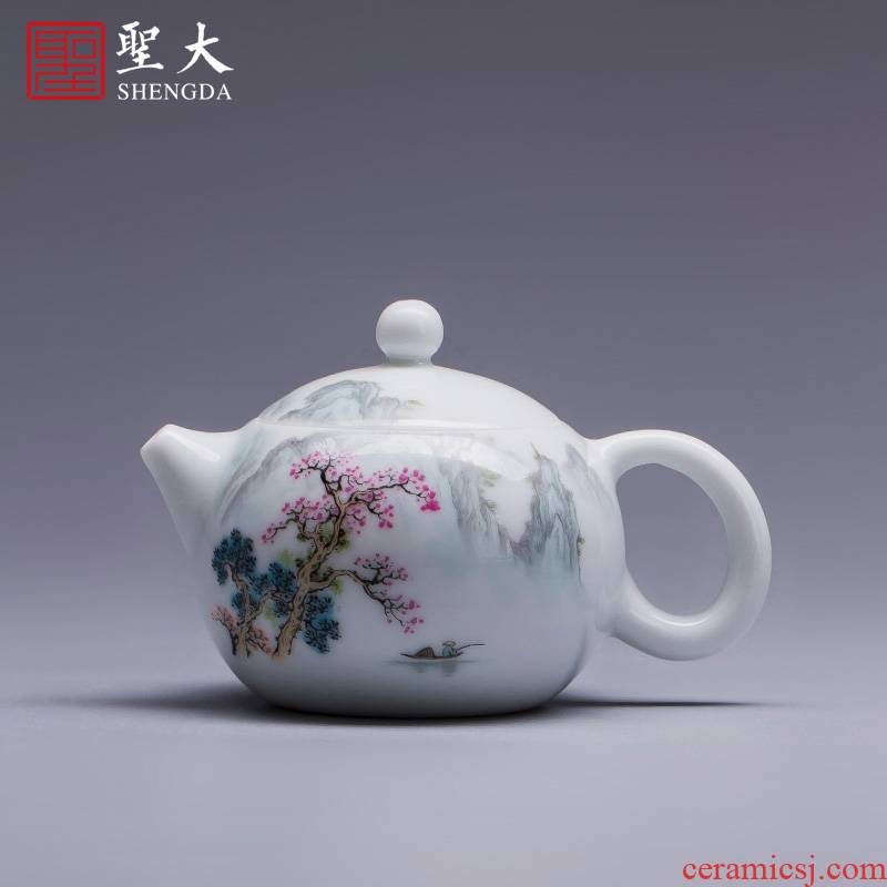 The New color landscape beauty holy big teapot hand - made ceramic kung fu pot all hand jingdezhen tea teapot single pot