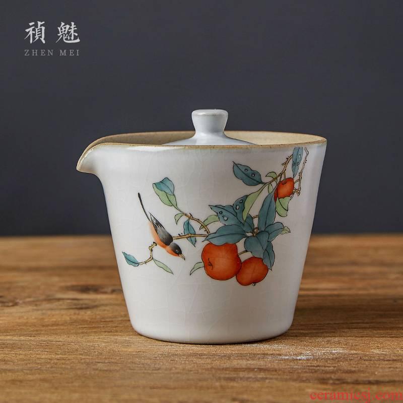 Shot charm your up hand - made tea hand grasp the kung fu tea pot of jingdezhen ceramics home filtration tureen crack cups