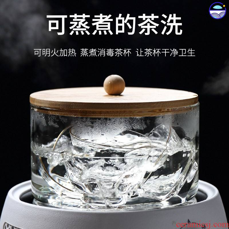 Sterilization pot boil tea cups fitting ware tea pot pot electric TaoLu kung fu tea wash to heating induction cooker with cover