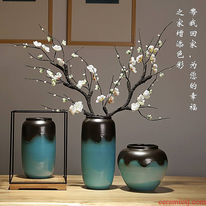 Jingdezhen ceramics vases, I and contracted style originality sitting room porch decoration furnishing articles dried flowers flower arrangement