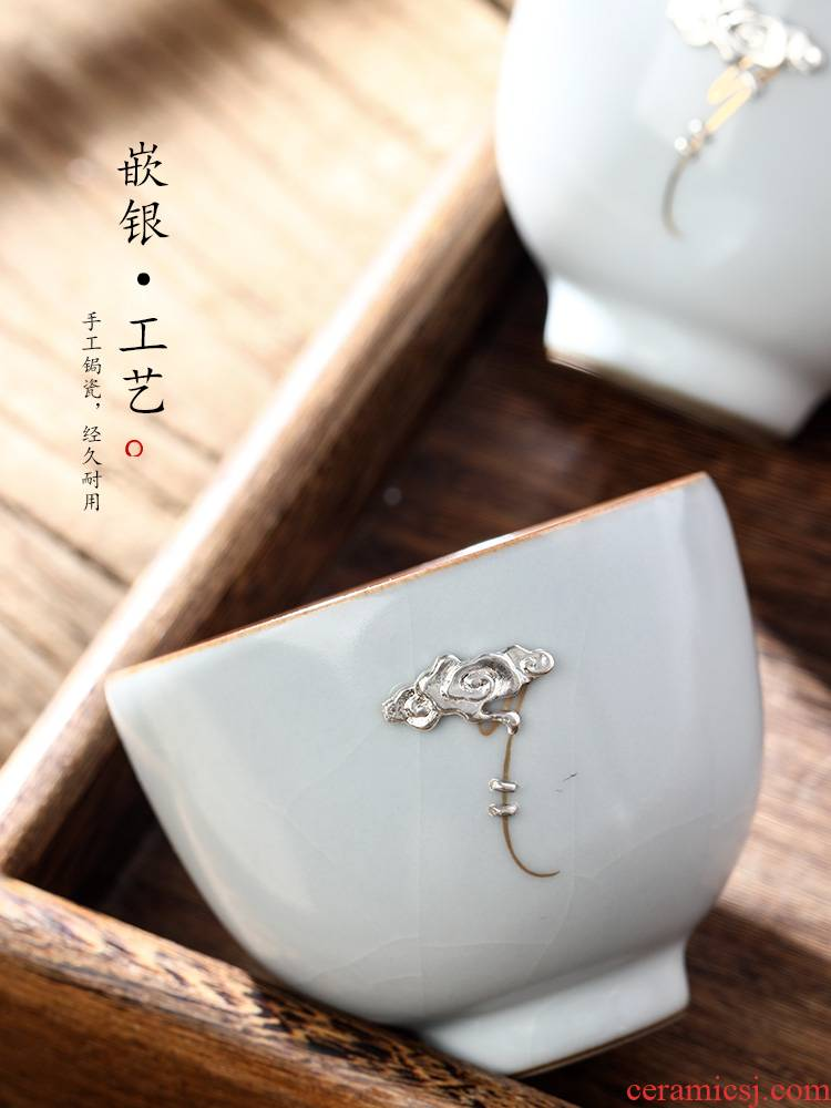 Jingdezhen 11.11 pre - sale 】 【 ru up market metrix who nail sample tea cup cup single CPU curium kung fu tea set a single hand