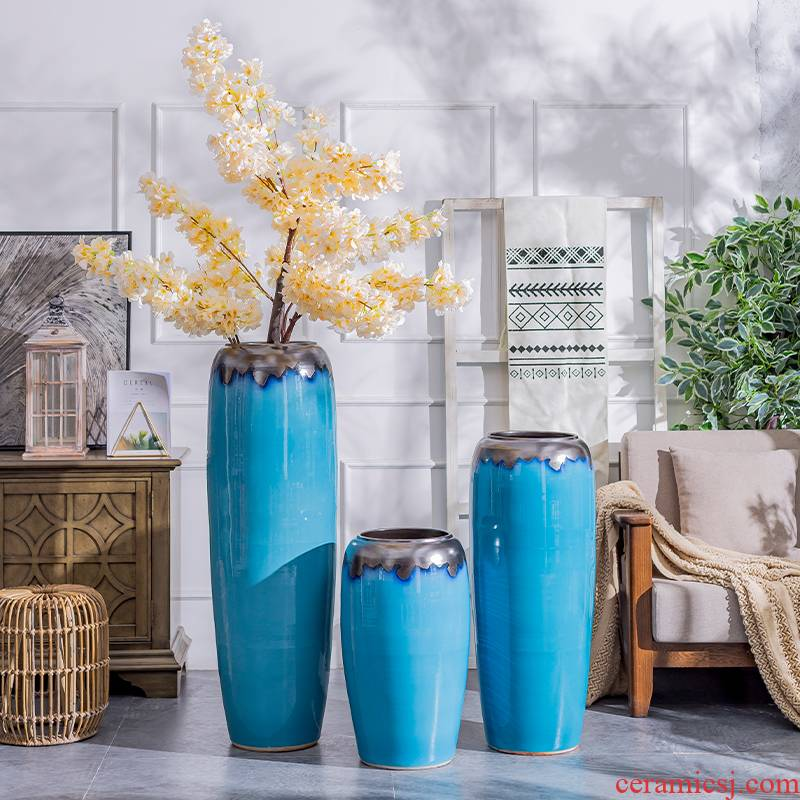 The Nordic landing big ceramic vase furnishing articles contracted and I sitting room decoration to The hotel villa porcelain of dried flower arranging flowers