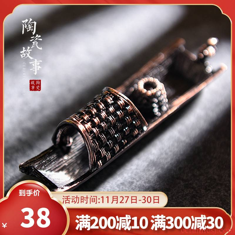 The Story of pottery and porcelain incense inserted a joss stick base creative kung fu tea tea accessories household interior furnishing articles incense buner