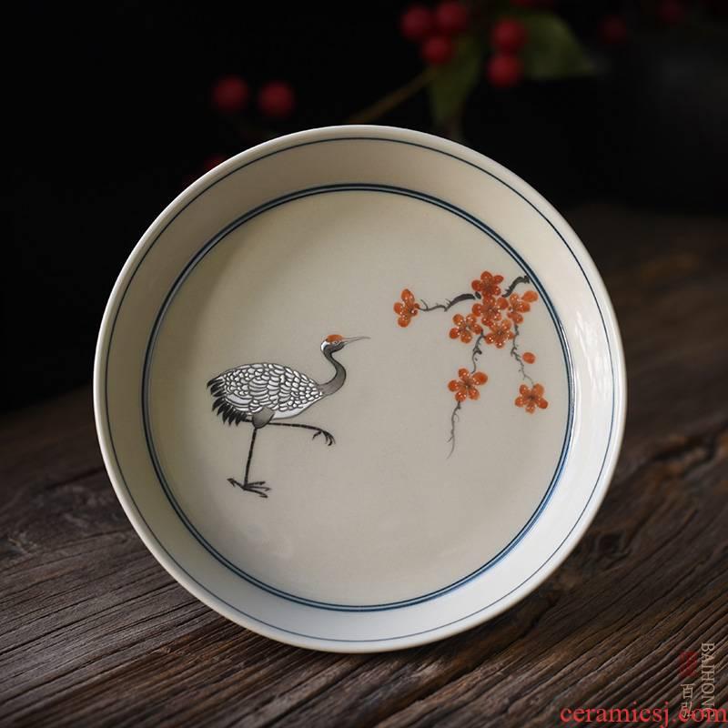 Hundred hong hand - made plant ash pot of bearing dry stage of jingdezhen ceramic kung fu tea tea accessories tea pot holder