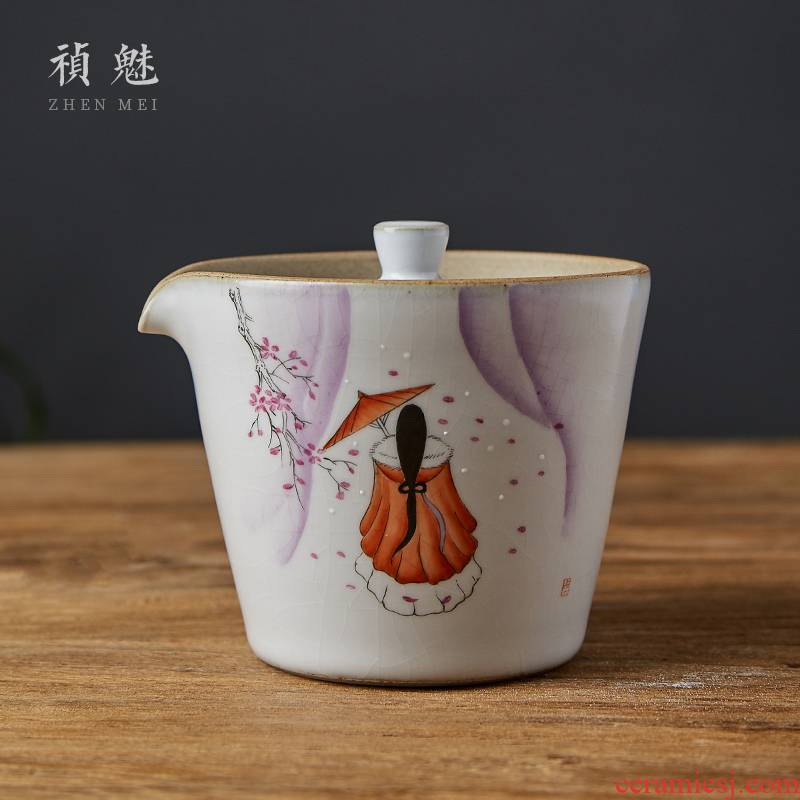 Shot incarnate all hand your up tureen jingdezhen ceramic cups kung fu tea set on hand grasp pot of tea crack cup