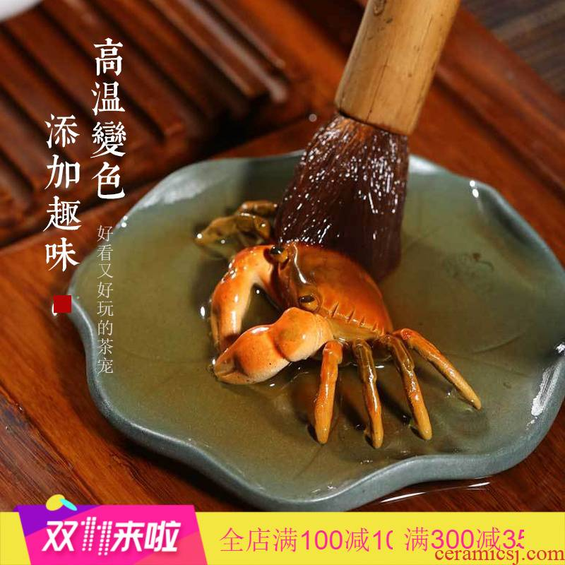 The Poly real pet jingdezhen purple sand tea to keep color scene furnishing articles crabs tea tea sets tea tea tea accessories