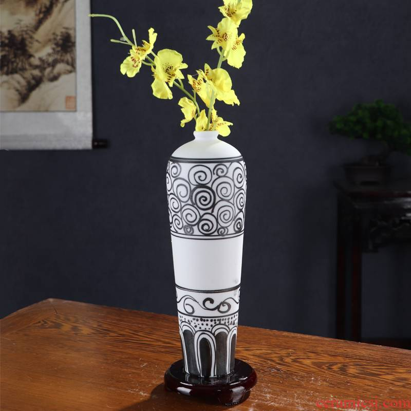 Hand - made modern Nordic inferior smooth ceramic vase furnishing articles sitting room TV cabinet table dry flower arranging flowers home decoration